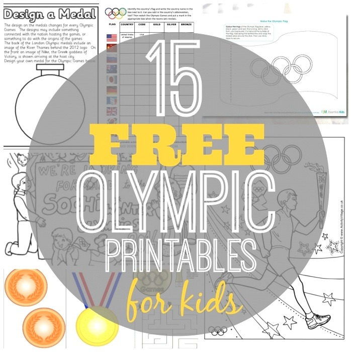 15 Free Olympic Printables for Kids Classy Mommy