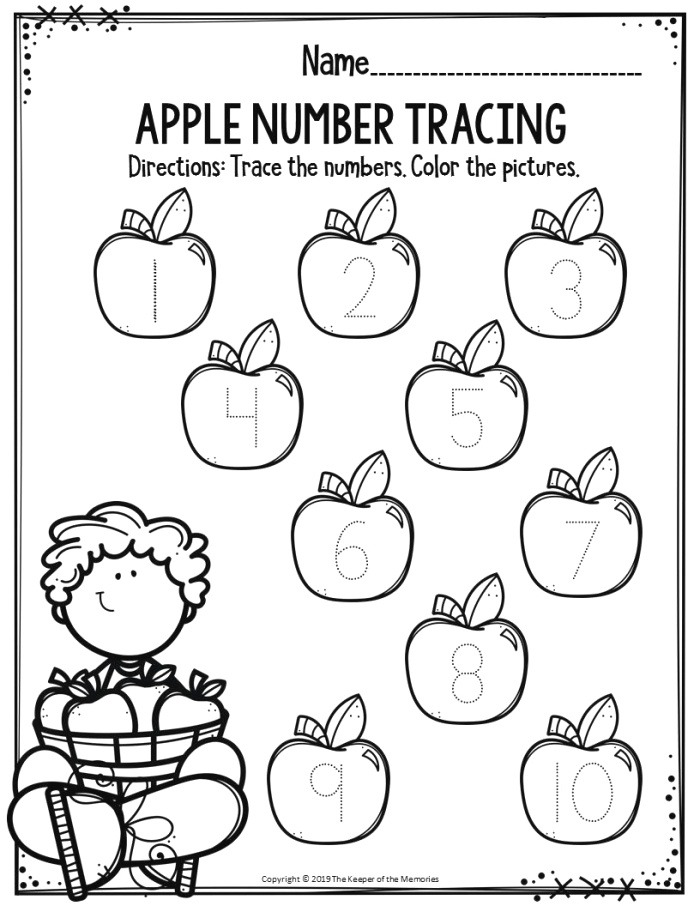 Apple Number Tracing the Keeper Of the Memories