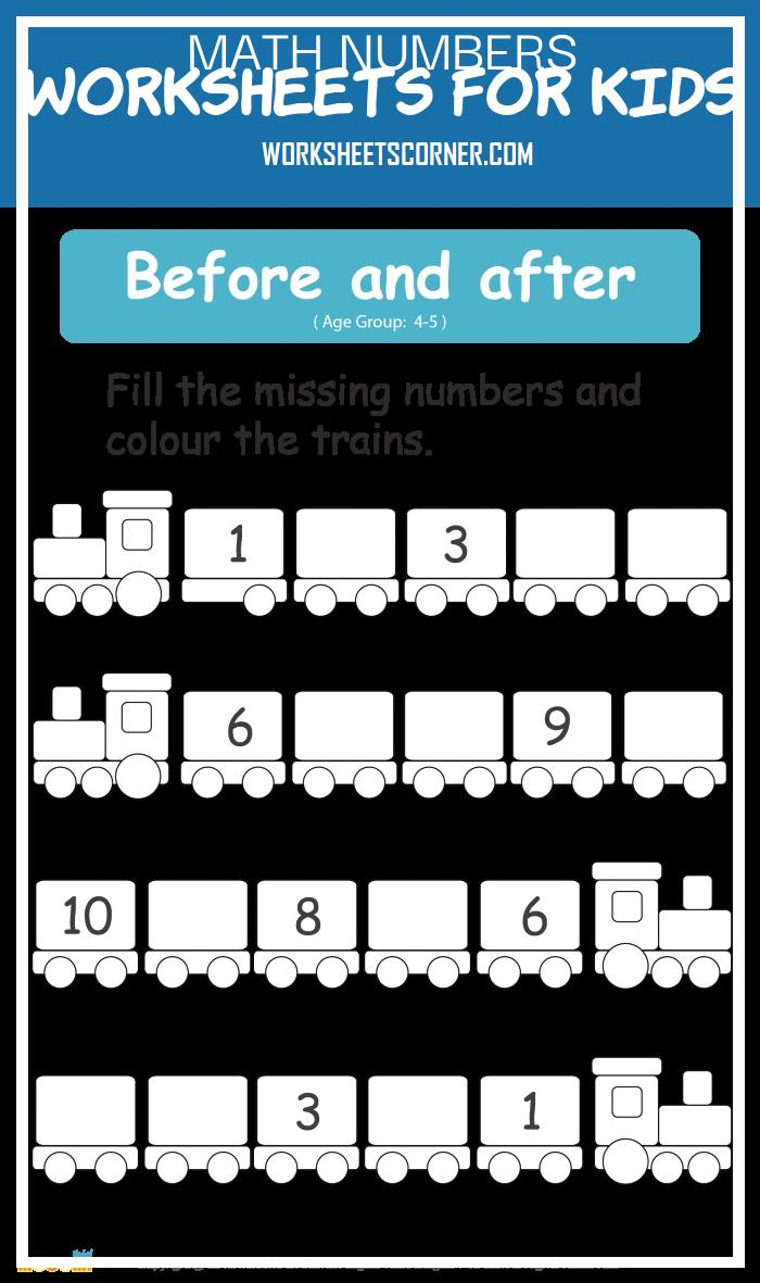 Math Numbers Worksheets for Kids