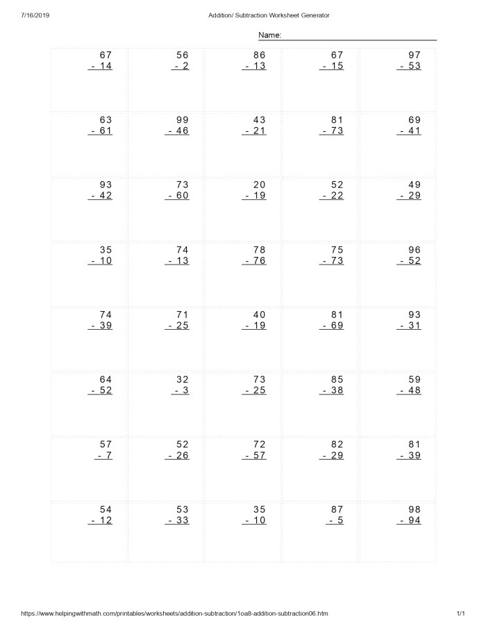 Best 10 Addition and Subtraction Worksheet You Calendars