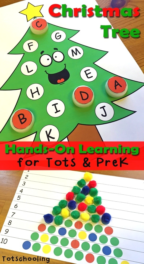 Childslearning Christmas Tree Learning Activities for toddlers & Prek