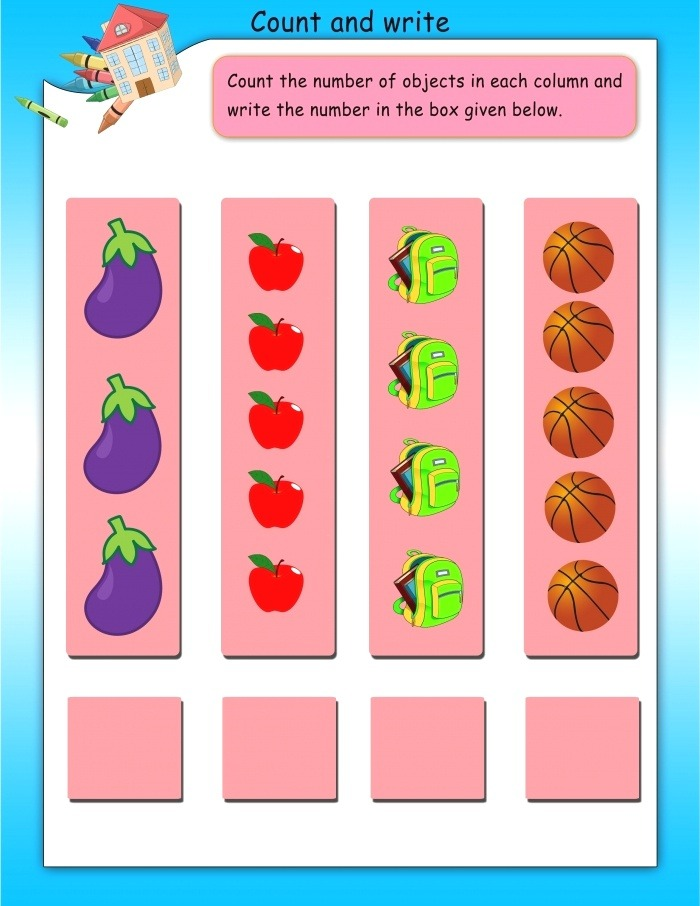 Count and Write Math Worksheets Mathsdiary