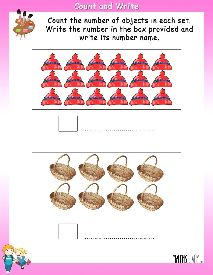 Count the Objects and Write the Number and Number Name