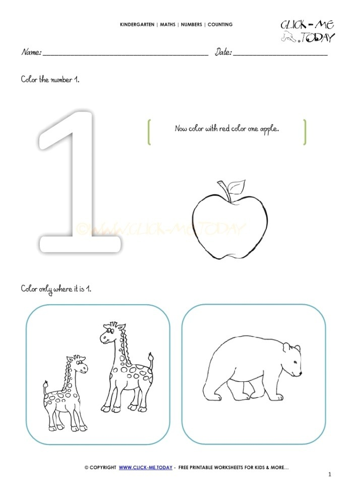 Counting Worksheet 1