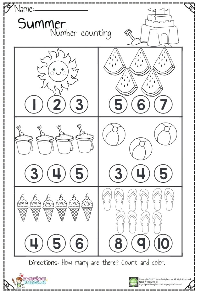 Counting Worksheets Con Imágenes