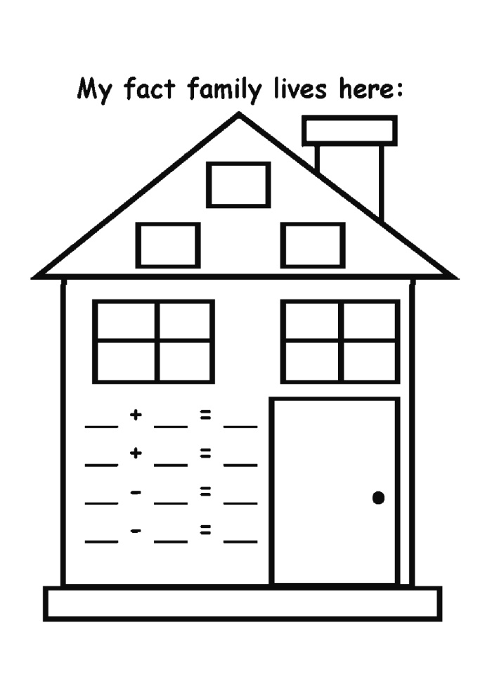 Easy Fact Families Worksheets 2017