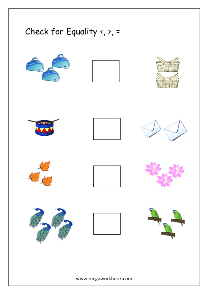 Free Printable More Less Worksheets Greater Than