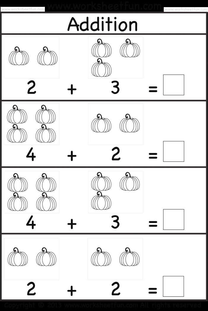 Kids Practice Adding Single Digit Numbers and Writing the