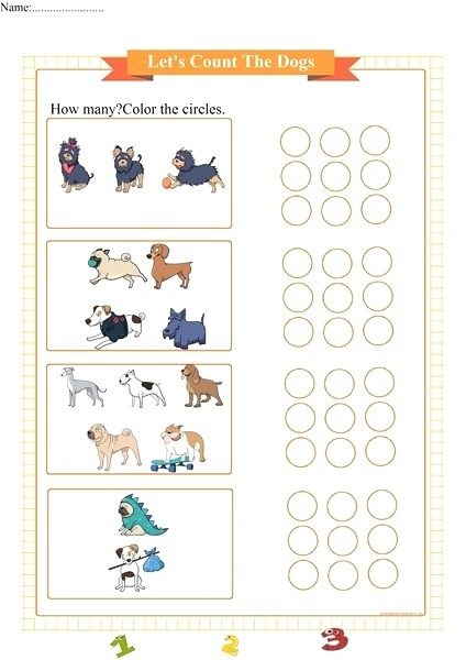 Let S Count the Dogs Free Math Worksheets