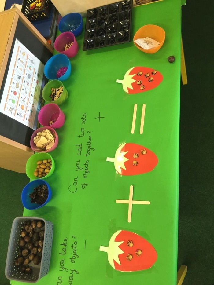 Maths Challenge Table Eyfs Adding and Subtracting Number