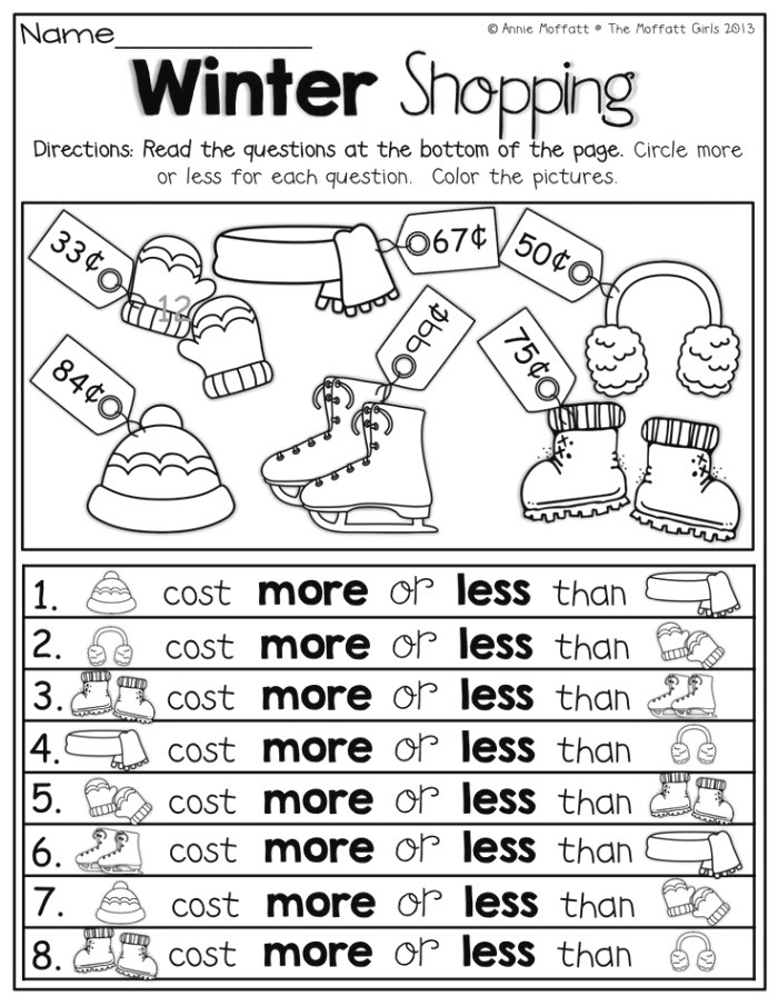 More or Less Paring Numbers Math