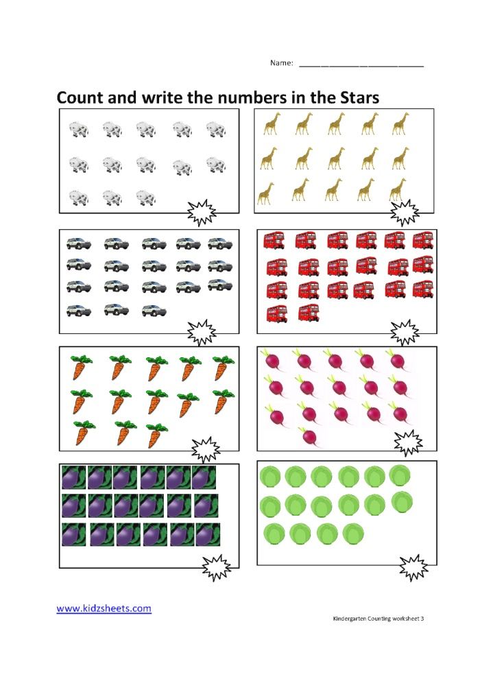 New 682 Counting Worksheets Kg