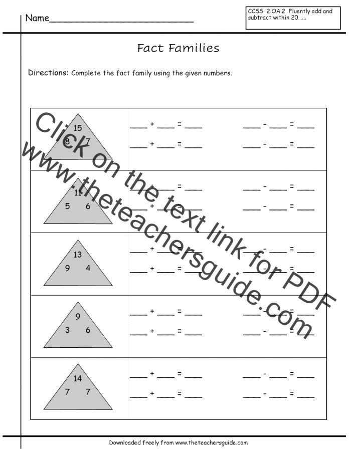 Paring Numbers Worksheets From the Teacher S Guide