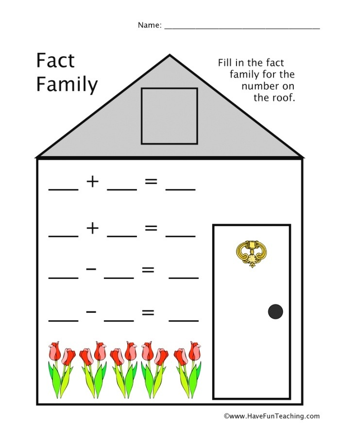 Resources Math Fact Families