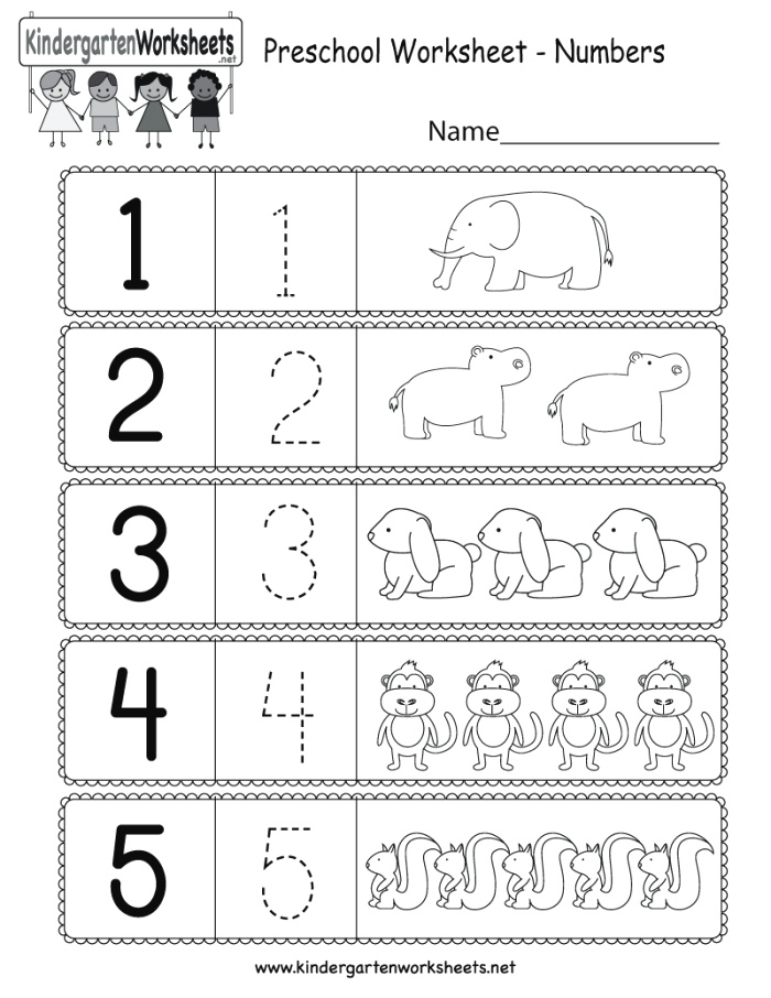 This is A Preschool Numbers Worksheet Kids Can Learn How