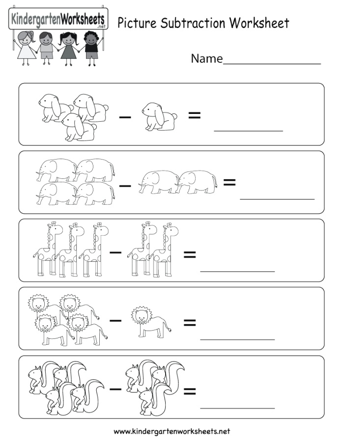 This is An Animal Subtraction Worksheet This Would Be A