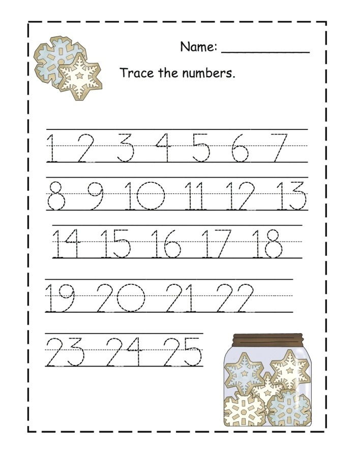 Trace Numbers 1 100