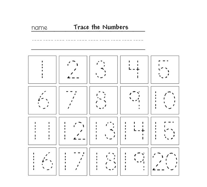 Tracing Numbers for Kg Printable – Learning Printable