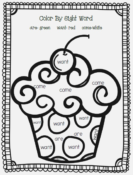 4 Best Of Color by Word Printables Color Sight