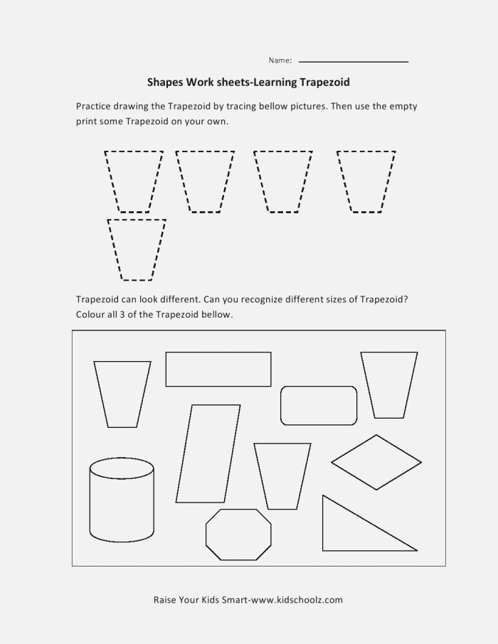 7 Best Of area A Trapezoid Worksheet Trapezoid