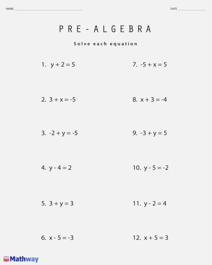 8th Grade Math Worksheets Free Printable with Answers