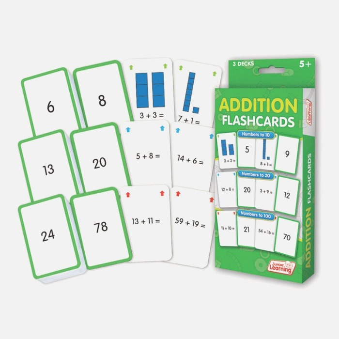Addition Flash Cards Jrl204 Flash Cards for Math for