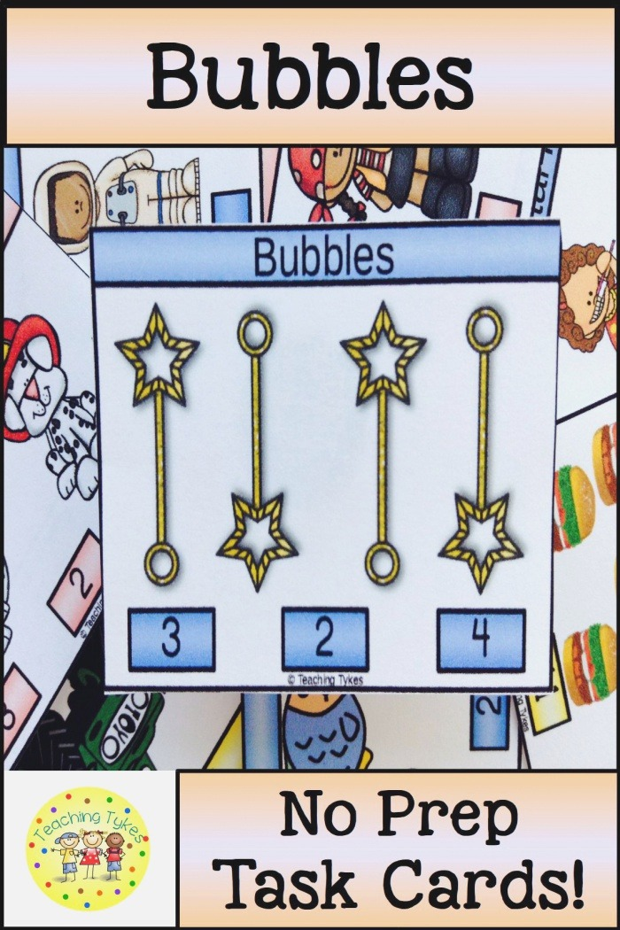 Bubbles Activity to Practice Counting Bubbles