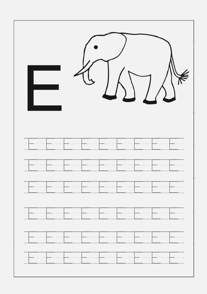 Capital Alphabets Tracing Worksheets Printable