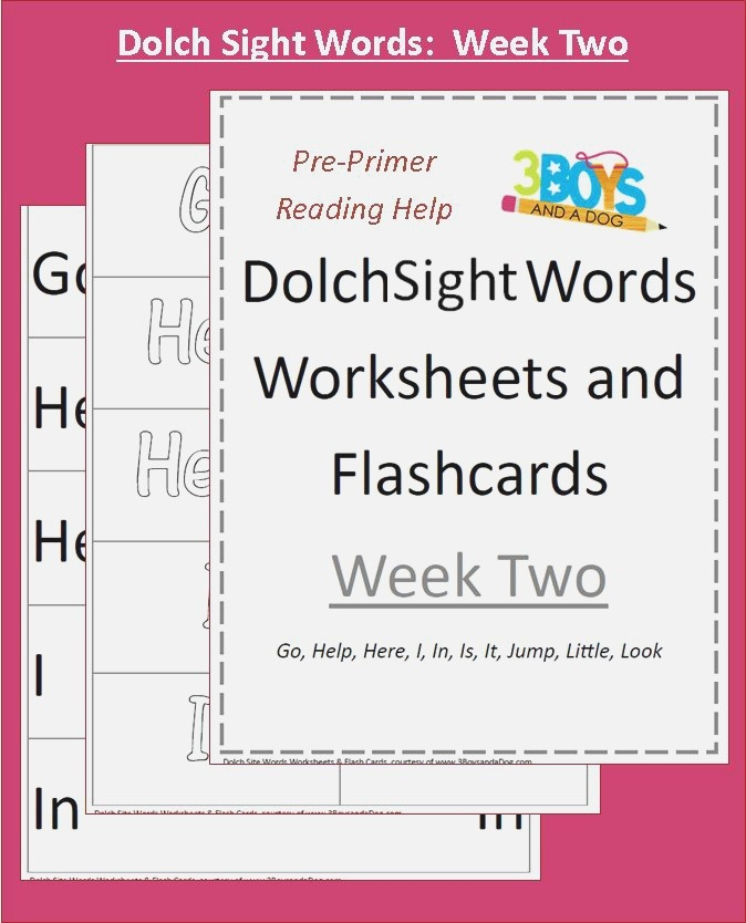Dolch Sight Words Worksheets Week Two