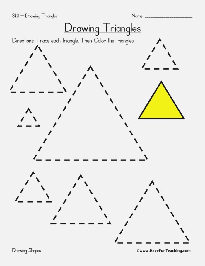Drawing Triangles Worksheet