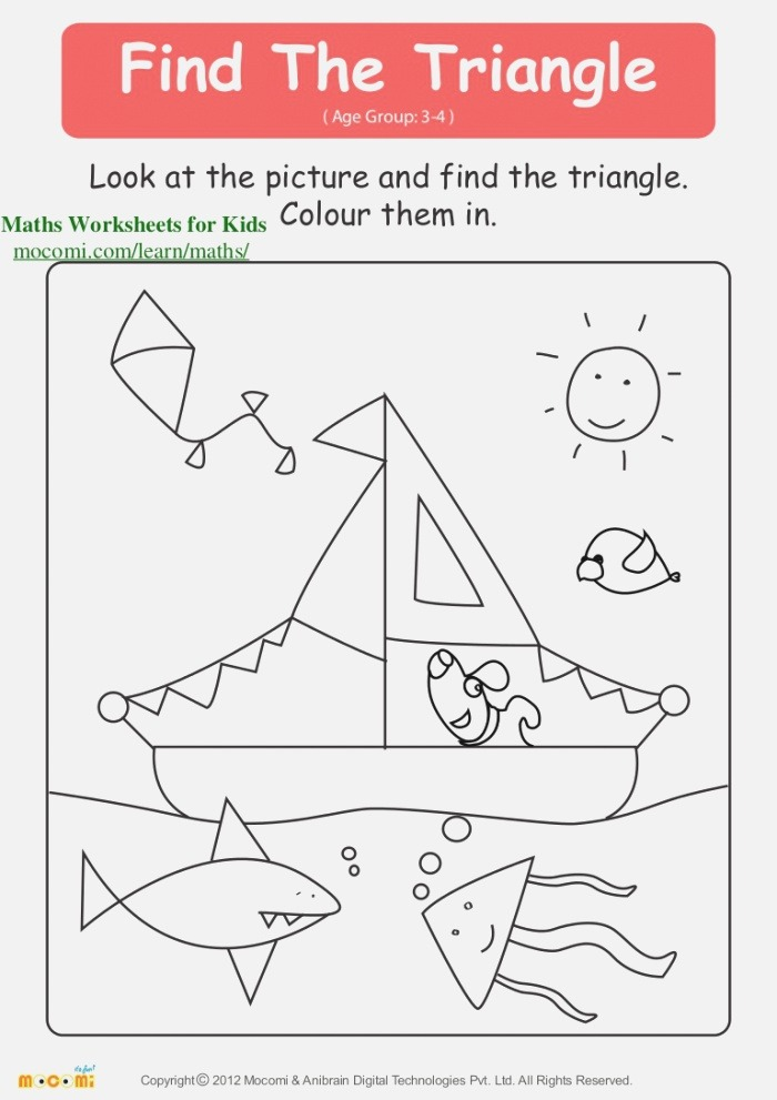 Find the Triangle – Maths Worksheets for Kids – Mo I