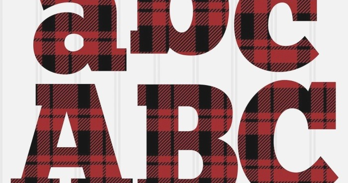 Free Plaid Letter Set In 2020