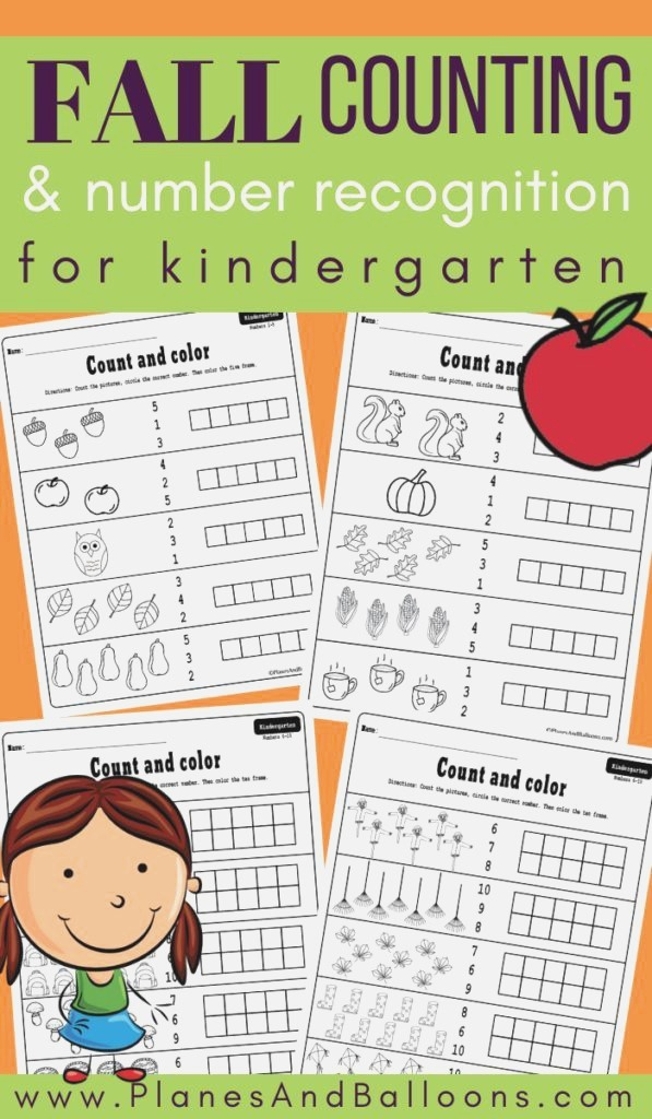 Free Printable Fall Counting Worksheets 1 10 for