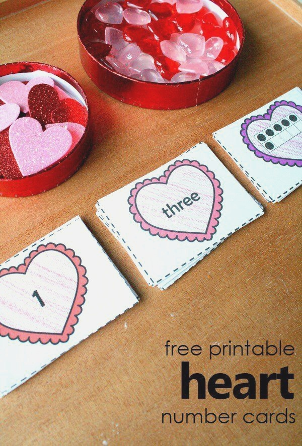 Free Printable Heart Number Cards