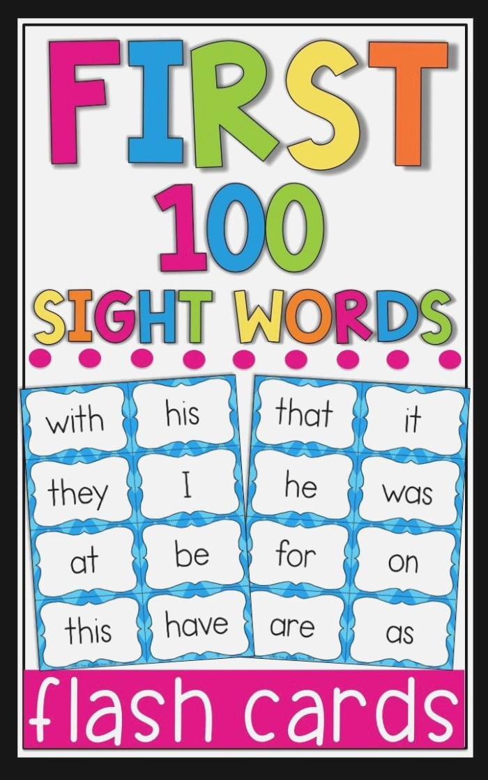 Fry Sight Word Flash Cards the First 100 High