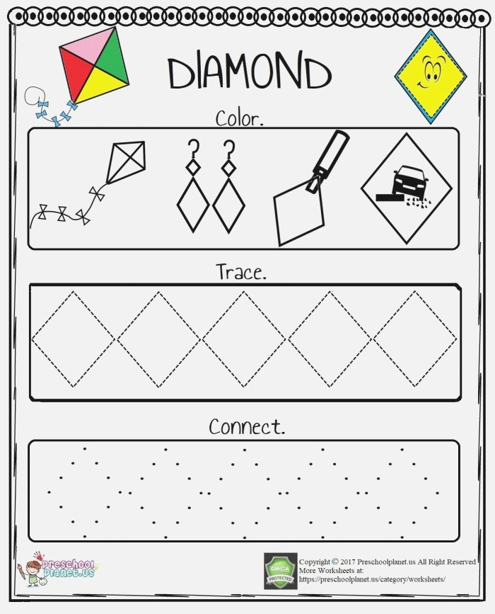 It is Very Easy to Teach Diamond Shape to Little Ones with
