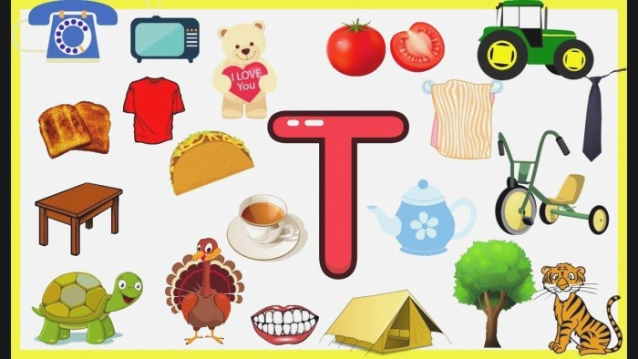 Letter T Things that Begins with Alphabet T Words Starts