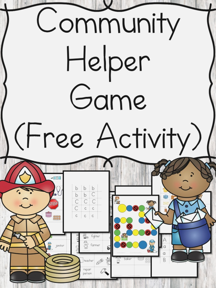 Munity Helper Game and Lesson Ideas for Kindergarten