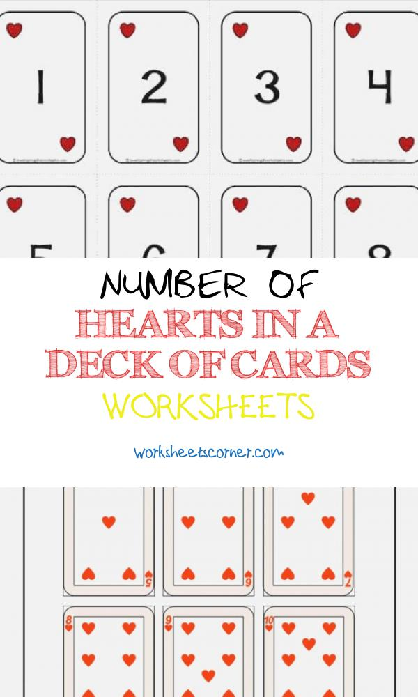 Number Of Hearts In A Deck Of Cards Worksheets