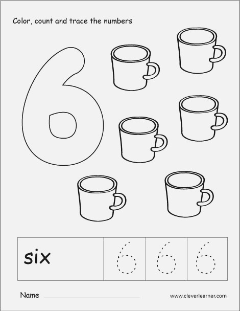 Number Six Writing Counting and Recognition Activities
