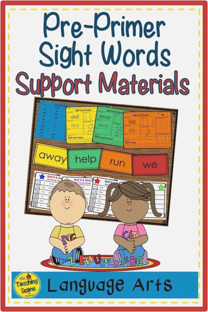 Pre Primer Sight Word Lists Flashcards Worksheets & Roll