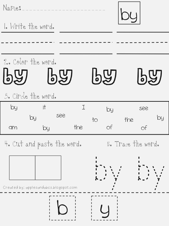 Sight Word Worksheet New 571 Sight Word Worksheets Go