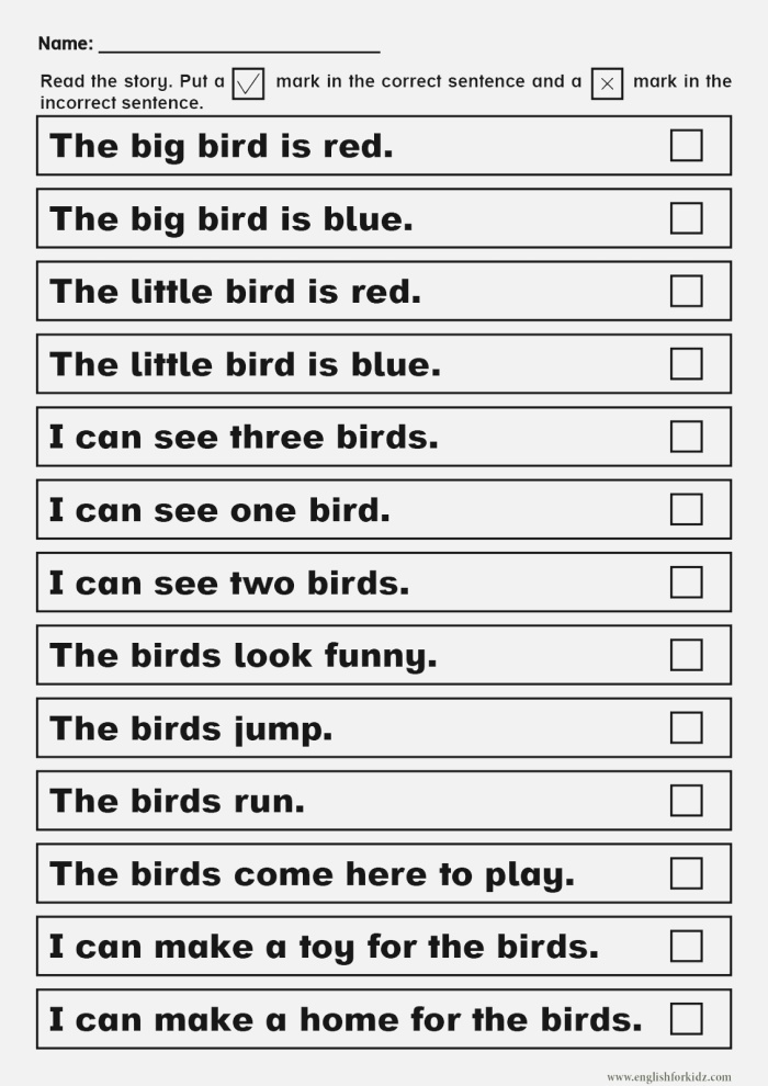 Sight Words Reading Passages and Worksheets Pre Primer