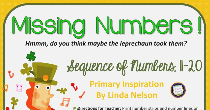 the Leprechauns took the Numbers Freebie