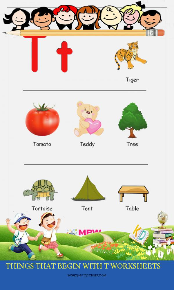 Things that Begin with T Worksheets