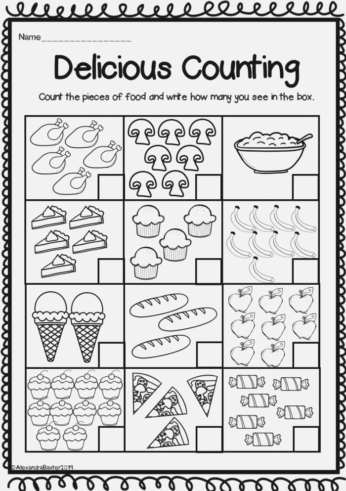 This Product Includes 12 Different Worksheets for Counting