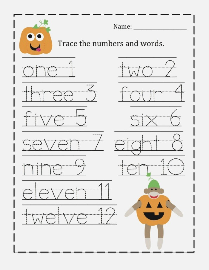 Trace the Numbers Worksheets