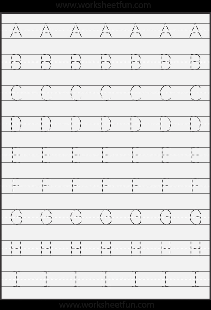 Tracing – Uppercase Letters – Capital Letters – 3