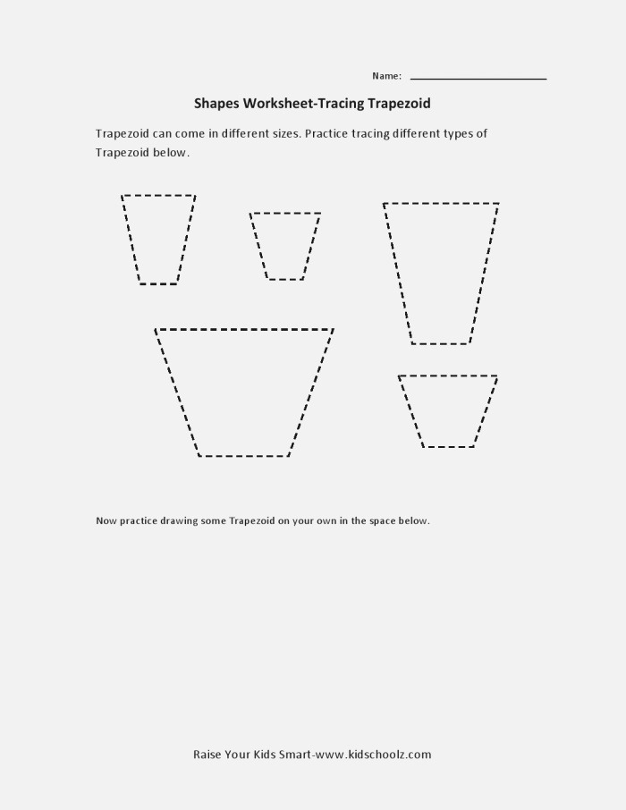 Trapezoid Tracing Worksheet