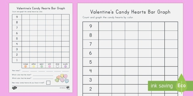 Valentine S Day Candy Heart Count and Graph Worksheet